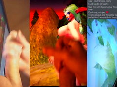 Cum Tribute to Lethi (Ночной эльф, World of Warcraft)