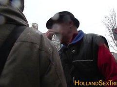 Real Hollantilainen huora saa cum