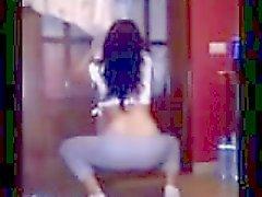 fidanzata hot ass danzare che agita