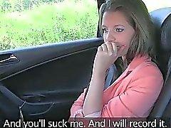De Liona viens de recevoir jus sur cul dans le taxi du taxi