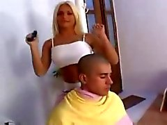Blonde Tranny Fucks Him