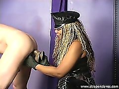 Ebony Trains Anal Slave