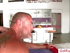 Pierced massage pro getting ass fucked