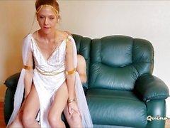 Atenea diosa (besos, mamada, montar a caballo, chorreo de leche)
