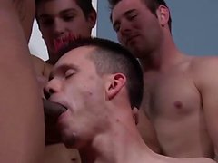 Huge Bareback Party per Sexy Dyde - Bukkake Boys
