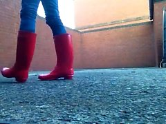 Red Wellingtons