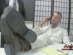 Office Blackmail 1 JESSIE COLTER LANCE HART FEET EDGIN TICKL