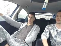 Sexy Portuguese Guys in Pounding in Car