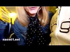 Naomi handjob in the airplane