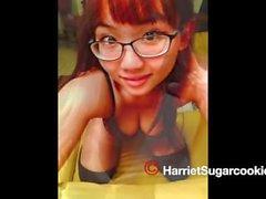 Británica, asiática, lesbiana, adolescente, y #AVNAwards Nom Harriet Sugarcookie 2015 Sexo