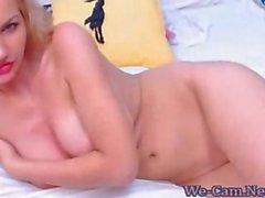 Busty biondo masturba privata webcam mostra