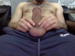 Big, Hard, Hairy & Heavy Turkish cock shoots his cummm