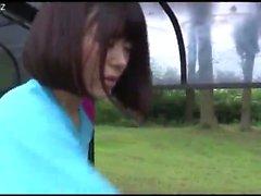 Fétiche extérieur pour une fille asiatique
