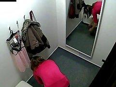 Bel tchèque l'étudiante snooped dans le vestiaire !