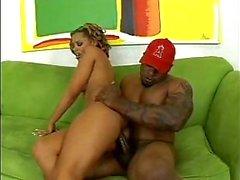 Ebony dude drills a mulatto girl
