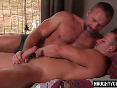 Big dick son oral sex and swap