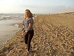La tarde en la playa con a Andreea