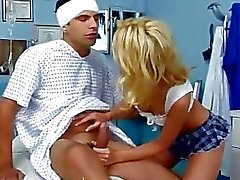 Hot nurse gets a creampie