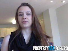 PropertySex - Youngin kiinteistönvälittäjä nussimista -hotellit homemade sukupuoli
