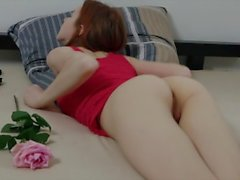Redhead Teen Masturbating SECRETS-ART Redly