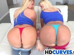 Deux grands mazoutés Butts Get Foré