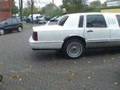 Bir Hollandalı genç bir limuzin içinde seks