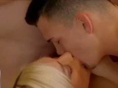 Two athletic Bi guys fuck a cute blond babe & each other add by Jamesxxx7x
