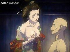 geisha animado en cuerdas se la follan duro