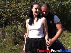 linda adolescente motorista spunked