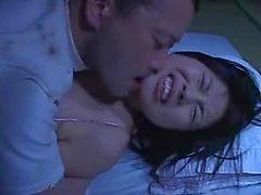 Mosaico : Rin de Aoki se folla atrás esposo de dormir