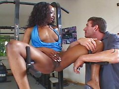 Black slut having her daily workout