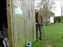 Old Man Catches Maid With BF So He Fucks Her