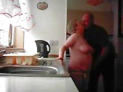 Nonna nonno e cazzo nella cucina