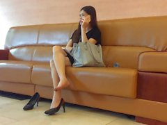 Candid Asian Shoeplay 2 Nov 2016