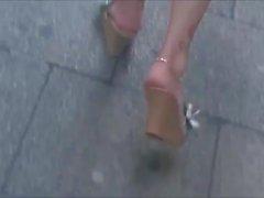 Kandidat Sexig Mogna Fötter, High Wedge Sandals
