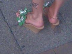 Ennakkoluuloton Sexy Aikuinen jalat, korkea Wedge Sandaalit