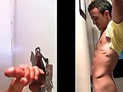 Teen gay loves big cocks to suck on gloryhole