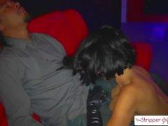 Sexy MILF Veronica Avluv sucking six big cocks