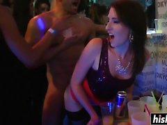 Naughty babes like to shag at the party