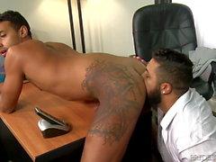 2 Cute divertente Big Dick Latino ragazzi Succhiare leccata & cazzo