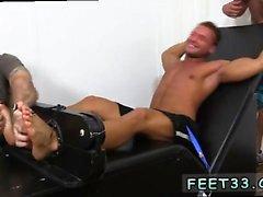 Foot job boy gay snapchat Muscular Tyrell Tickled