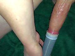 Cock suga i dammsugare i cum bilden