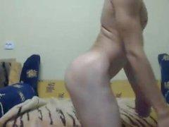 Ukrainian sveglia athetic Gay bambino maschio , Liscio Tight Ass in Cam