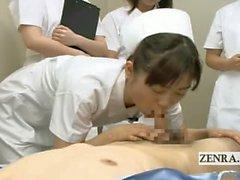 CFNM Subtitled du Japon colloque les infirmières médecin de la fellation