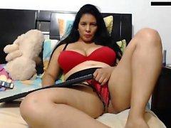 Solo BBW madura en la webcam