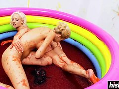 A pool filled with jelly