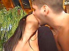 sexy argentine brunette tits boobs