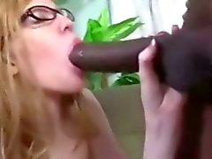 Cute redhead April sucking mandingo big black cock BBC