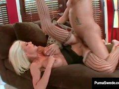 Busty Blonde Puma Swede Fucks Talon & Gets A Hot White Load!