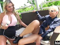 Hot Mia plays with a cute friend